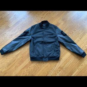 MEMBERS ONLY Men Charcoal VARSITY Letterman Jacket